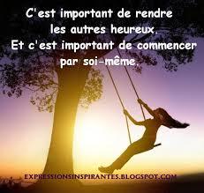 C'est important de rendre les autres heureux...