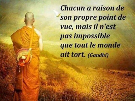 CHACUN A RAISON DE SON PROPRE POINT DE VUE
