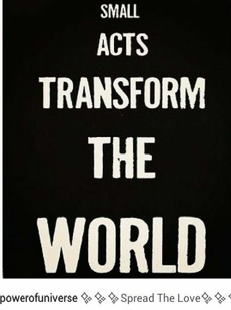 Act transform the world !