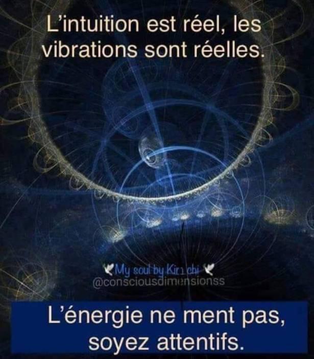 L'INTUITION EST REELLE LES VIBRATIONS SONT REEELLES
