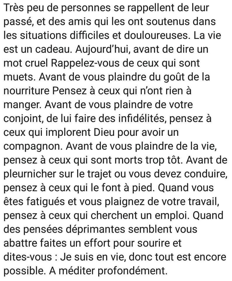TRES PEU DE PERONNES SE RAPPELLE DE LEUR PASSE