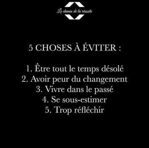 5 CHOSES A EVITER