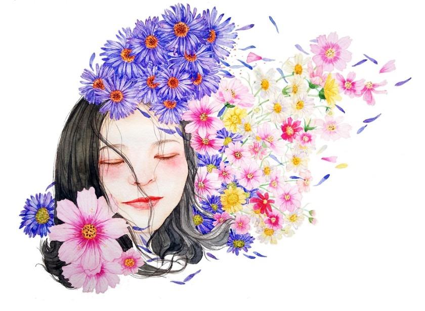 aquarelle-caractère-jeunefille-femme-portrait
